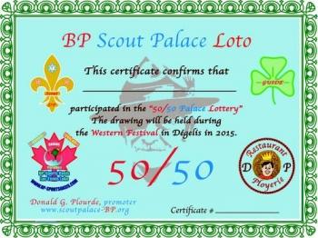 50/50 Palace Lottery
