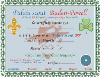 Intronisation au Palais Scout