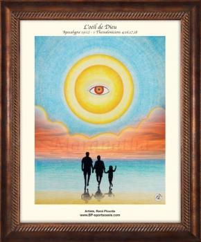 L'oeil de Dieu (cadre brun)