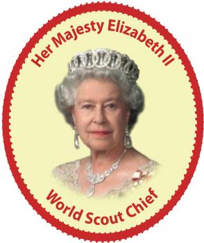 Queen World Scout Chief (sticker)